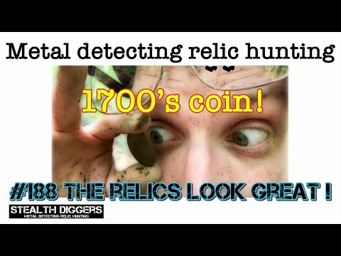 #188 The relics look great - Metal detecting early colonial NH settlers sites