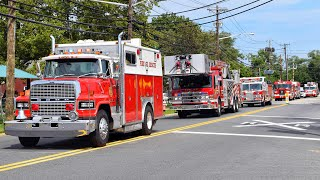 Fire Truck Lights And Sirens Parade In Elmwood Park For Jason