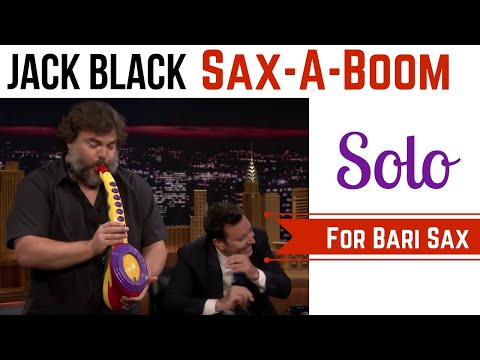 Jack Black's Sax-a-Boom Solo TUTORIAL for Bari Sax