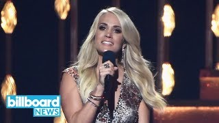 Carrie Underwood Opens Up About Facial Injury Following Fall | Billboard News