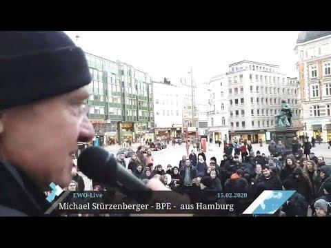 Vor Antifa in Hamburg kritisiert Stürzenberger den Sozialismus und Kommunismus