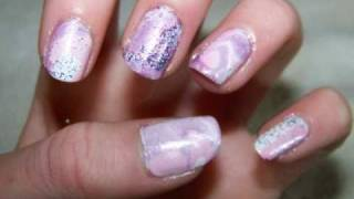 *very Berry Smoothie* Water Marble Nail Art Tutorial