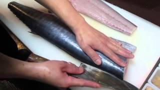 澍壽司屋-殺鰆魚-生魚片前置處理