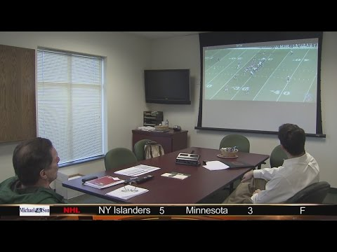 Peyton Manning film study with W&M