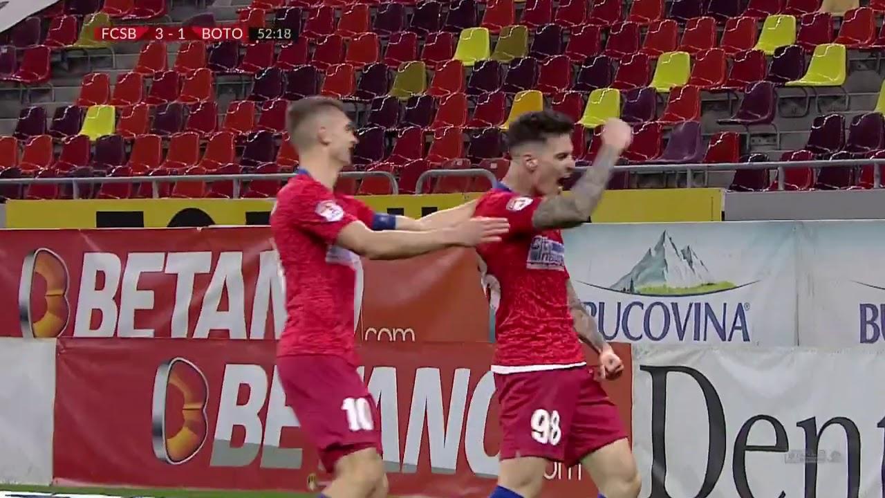 Liga 1. Rezumat FCSB - FC Botoșani 4-1. Spectacol pe Arena Națională