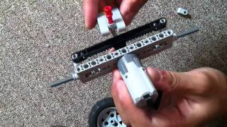 Lego Rc Mini Car (Building the front steering)