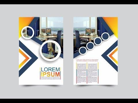 Coreldraw x7 Tutorial Modern Flyers Brochure Design TemplatesWith AS GRAPHICS
