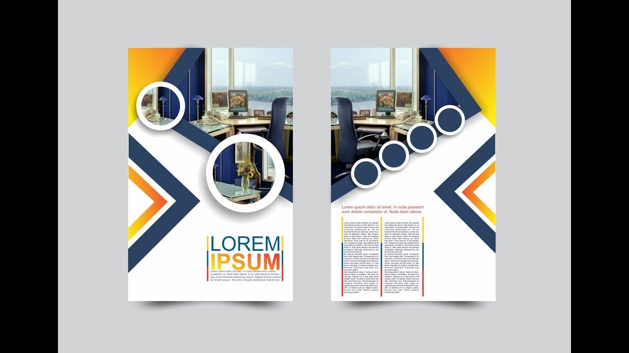 Coreldraw x7 tutorial modern flyers brochure design for Coreldraw brochure templates