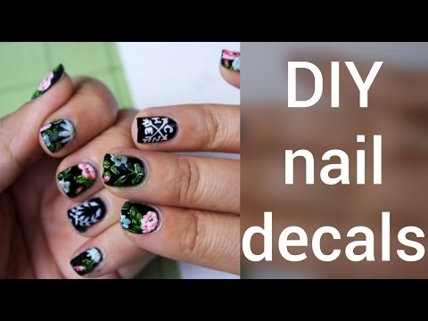 How to Make Nail Decals : DIY - YouTube