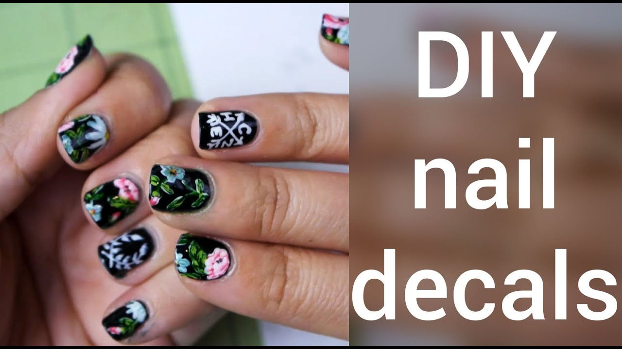 How To Make Nail Decals DIY YouTube - How to make nail decals at home