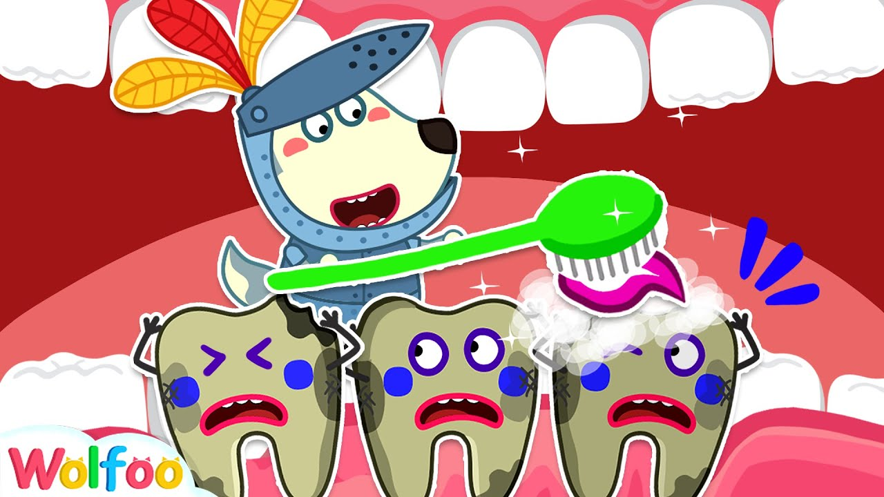 Knight Wolfoo Fights Against Bad Tooth - Wolfoo Learns Healthy Habits   Wolfoo Family Kids Cartoon