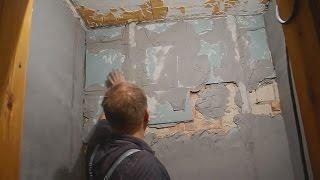 Как оштукатурить стену,заваленную на 10см ч.2