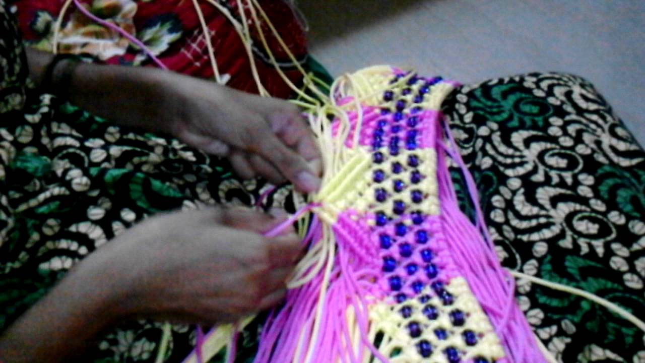 Toran Making From Micrame Treads Teaching In Marathi Youtube
