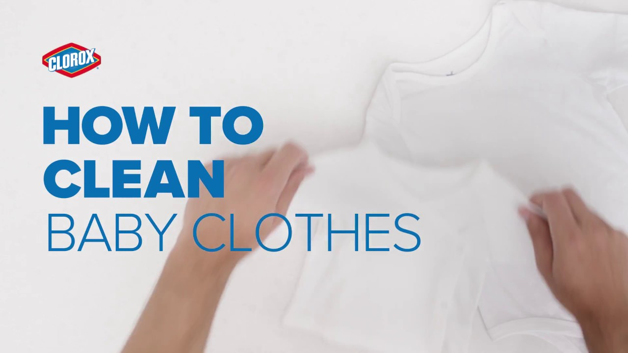 How To Wash Baby Clothes Clorox Youtube