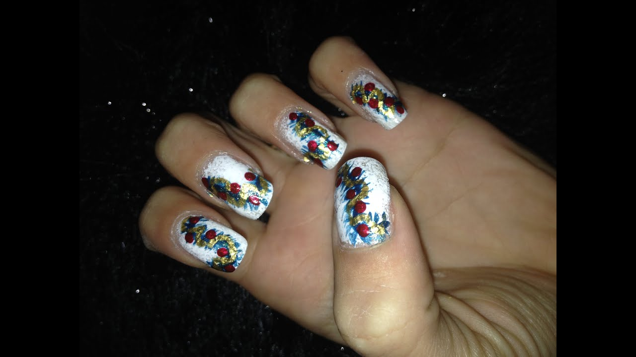 The christmas nail ornament - Christmas Ornaments Nail Art