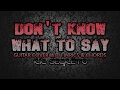 Don't Know What To Say - Ric Segreto (Guitar Cover With Lyrics & Chords)