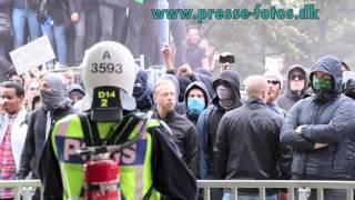våldsamma upplopp i Stockholm d. 30.08.14