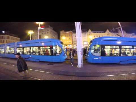 CROATIA Zagreb Impressions: Ban Jelačić Square 4K