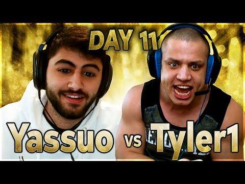 TYLER CATCHES UP! | YASSUO VS TYLER1 - $10K BET: DAY 11