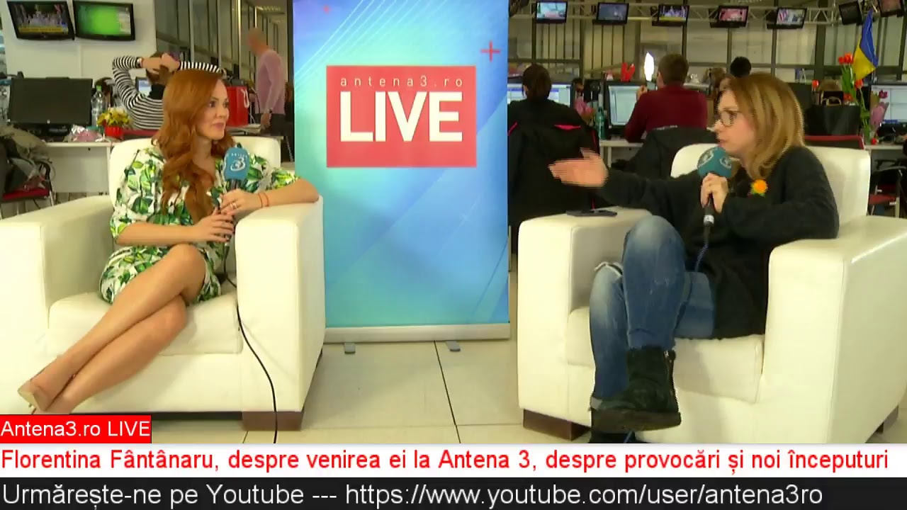 Antena3 ro LIVE: Florentina Fântânaru, despre venirea ei la Antena 3
