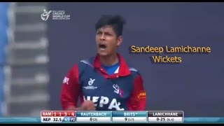 Young Spinner Sandip Lamichanne magical spin ⛹ ⛹ 🏏🏏Best bowling || All wicket...