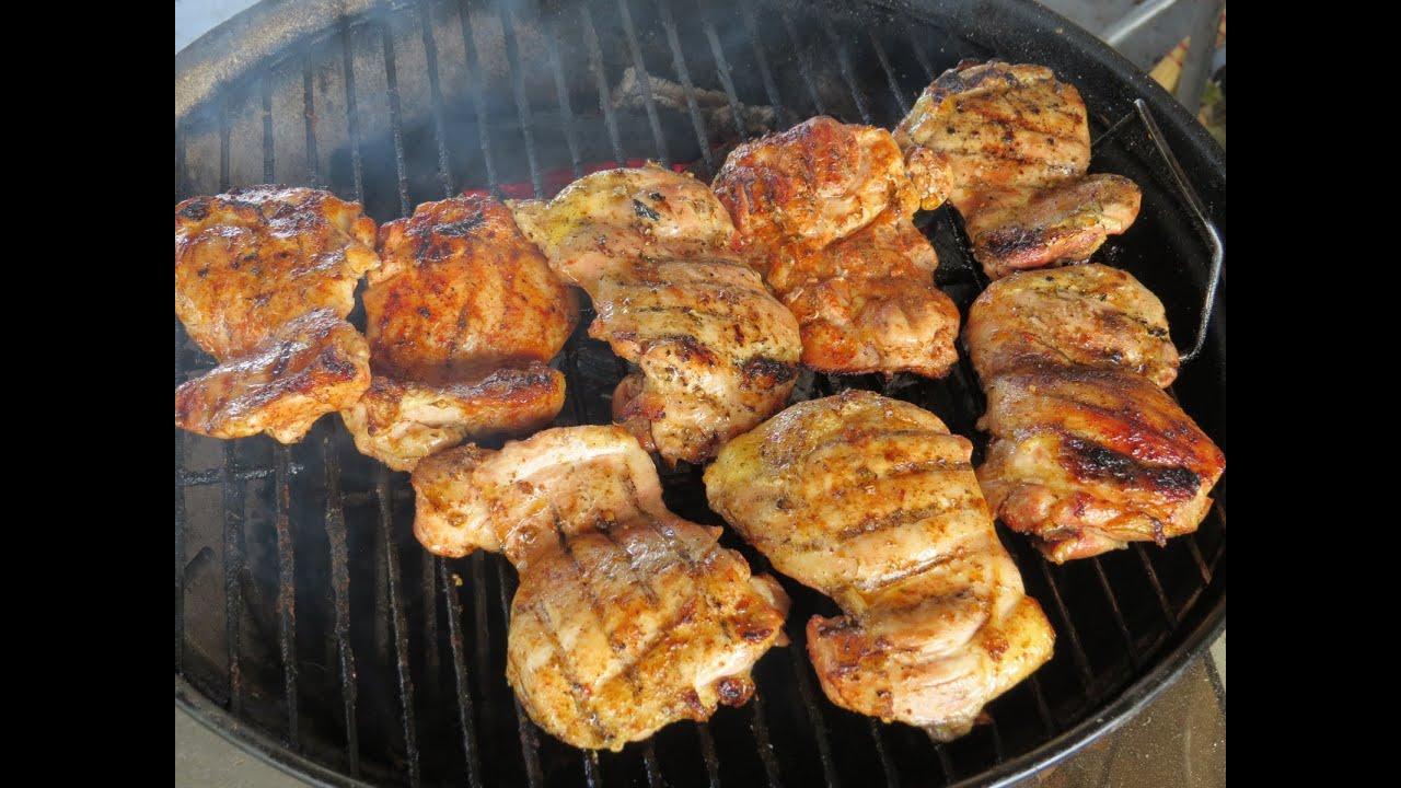 Bbq Rubs On Grilled Boneless Skinless Chicken Thighs