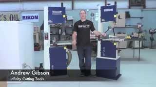 "Infinity Cutting Tools - Rikon 14"" Bandsaws"