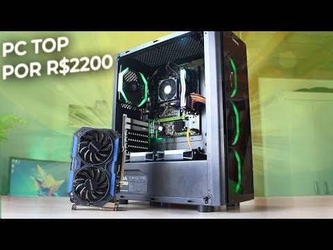 PC Gamer de R$ 2.200,00 com gabinete Streamer