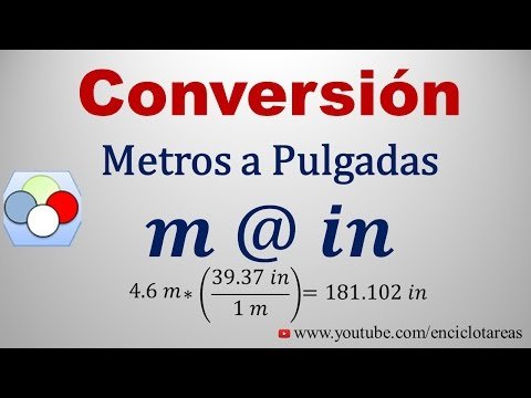 Convertir de Metros a Pulgadas (m a in) from YouTube · Duration:  3 minutes 2 seconds