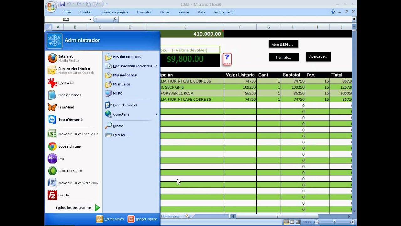 Un Sistema De Ventas Creado En Excel Muy Simple Pero Muy Poderoso Control Ventas Youtube