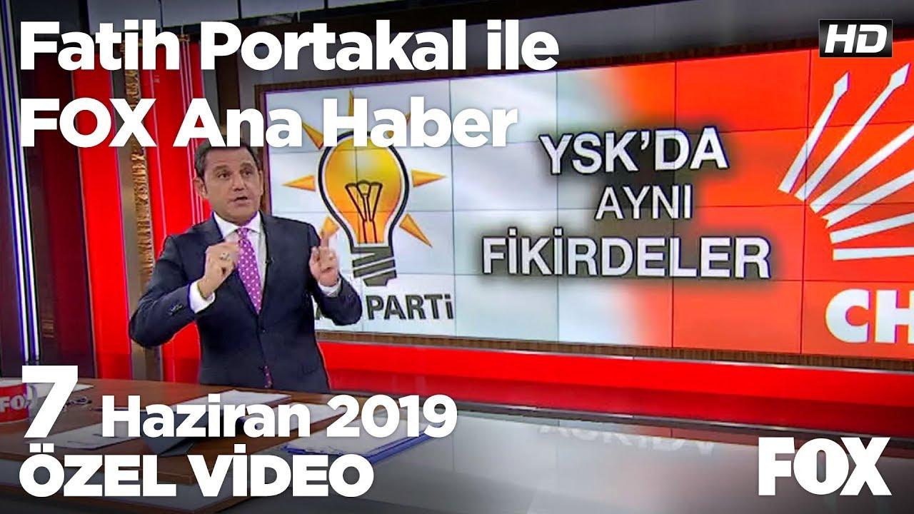 Fox Haber İzle, 07 Haziran 2019.. YSK'nın kararı kafaları daha da karıştırdı...