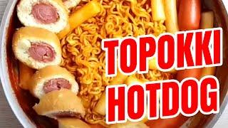 Bánh gạo cay topokki hotdog