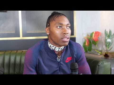 Behind the scenes with Caster Semenya