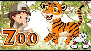 Poznajemy dzikie zwierzęta - zwierzęta dla dzieci - idziemy do zoo