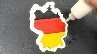 German Flag Map Pancake Art - National Anthem of Germany