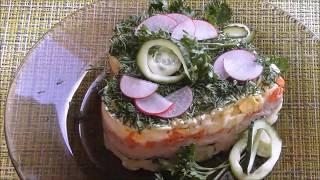 "Салат из печени минтая ""Быстрый"""