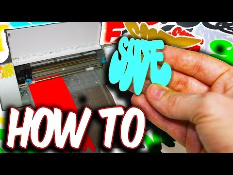 How To Make Vinyl Decal Stickers - Silhouette Cameo