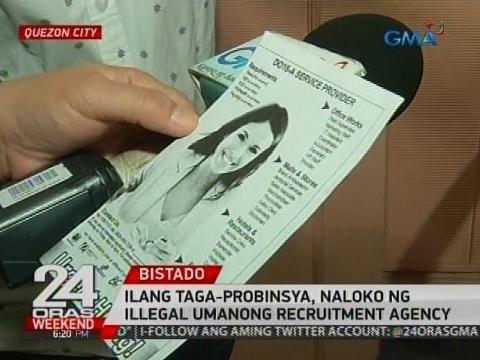 24 Oras: Ilang taga-probinsya, naloko ng illegal umanong recruitment agency