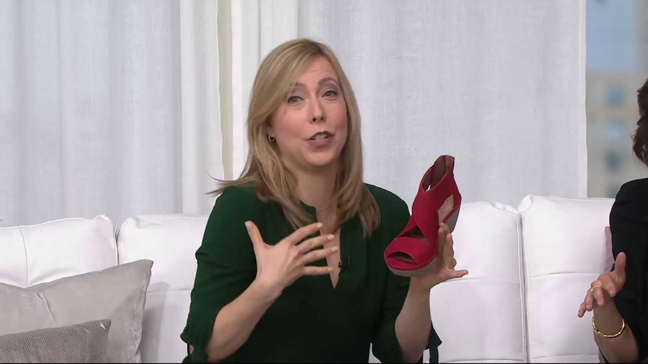 a15c402c4032 Clarks Artisan Nubuck Leather Back Zip Wedge Sandals - Clarene Glamour on  QVC