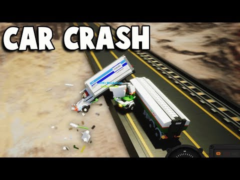 High Speed CAR CRASH on Dangerously HIGH BRIDGE! (Brick Rigs Multiplayer Gameplay Funny Moments Ep 2