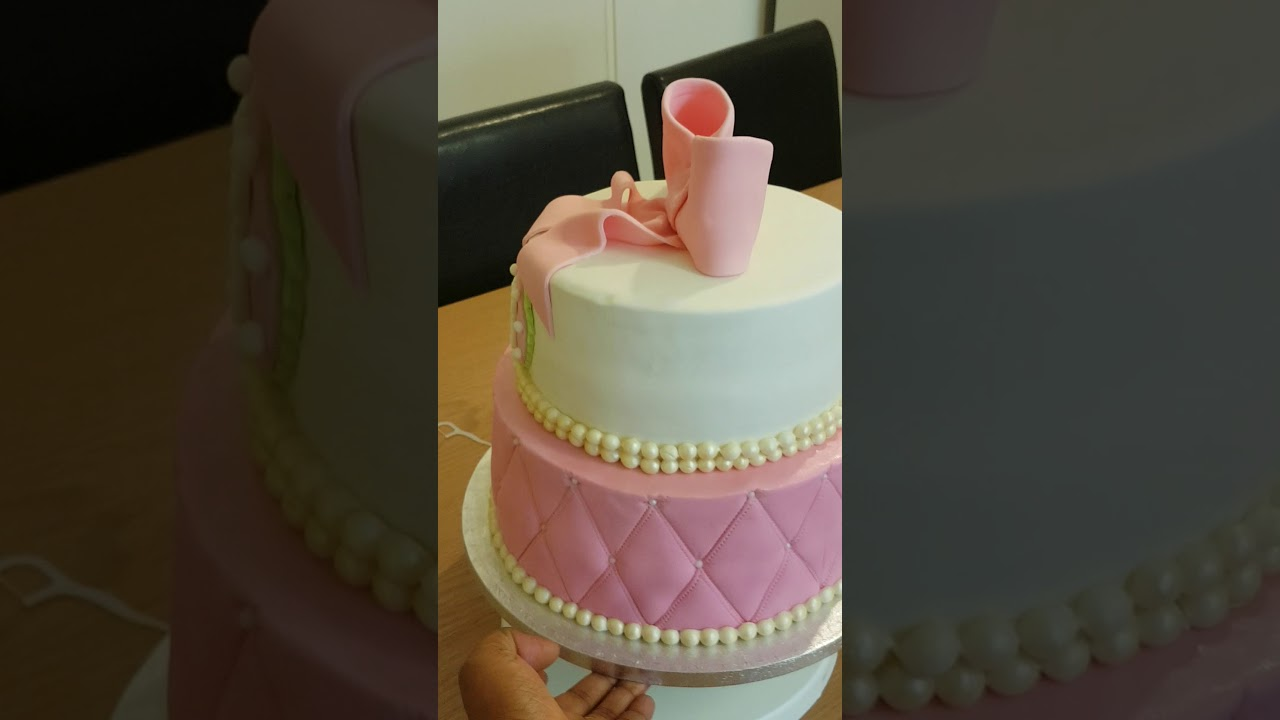 My Pink And White Coloured 18th Birthday Cakeetty Youtube