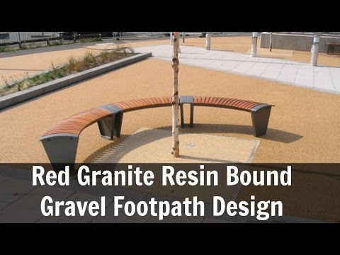Red Granite Resin Bound Gravel Footpath Design