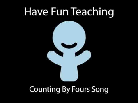 Counting By Fours Song In Backwards (Have Fun Teaching)