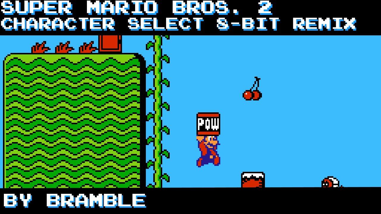 Super Mario Bros  2 - Character Select - 8-Bit Remix [MMC5]