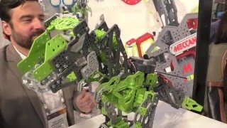 Meccano Meccasaur, Interactive T-REX, First Look Toy Fair 2016