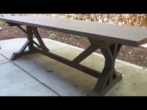How to build an outdoor patio table - YouTube