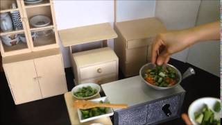 Miniature Cooking: Tiny Pinakbet / Vegetable Stew With Shrimp Paste (tiny Cooking Real Mini Food)