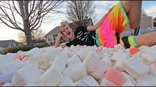 Trampoline Vs Marshmallows!