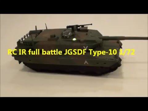 RC IR full battle JGSDF Type-10 1/72