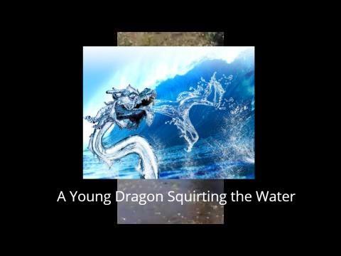 Young Naga spirit squirting the water, Thailand 2016